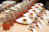 Snacks on buffet table — Stock Photo