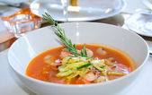Fish soupe with rosemary — Stock Photo