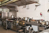 Typical kitchen of a restaurant — Photo