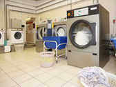 Commercial laundry interior — Stock Photo