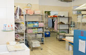 Commercial laundry interior — Stock Photo
