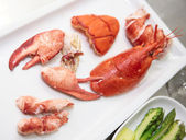Edible parts of a lobster — Stock Photo