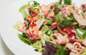 Appetizer with tasty seafood, closeup — Stock Photo