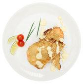 лосось, жареные в тесте — Стоковое фото