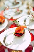 Sun-lit seafood snacks — Stock Photo