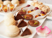 Sweets on banquet table — Stock Photo