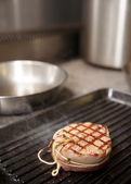 Tenderloin steak on grill — Stock Photo