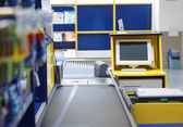 Checkout terminal in a supermarket — Stock Photo