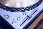 DJ turntable close-up — Stock Photo