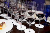 Professional winetasting contest — Stock Photo