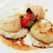 Stock Photo: Scallops with potato mash