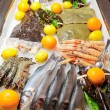 Stock Photo: Great variety of fish and seafood