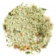 Green herbal risotto, isolated - Stock Photo