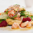 Stock Photo: Elegant appetizer with shrimps and lettuce