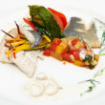 Seabass haute cuisine dish — Stock Photo #12814851