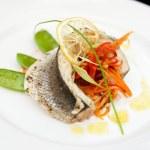 Seabass haute cuisine dish — Stock Photo #12814868