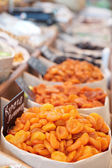Suszone morele i innej żywności konserwowanej — Zdjęcie stockowe