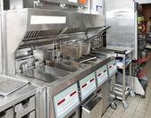 Deep fryer with on restaurant kitchen — Stock Photo