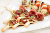 Canapes with ham tartlets — Fotografia Stock