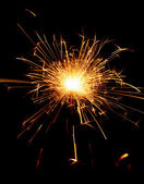 Sparkler on black background — Stock Photo