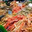 Great quantity of fresh seafood — Stock Photo #13176620