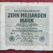Hyper inflation german marks - Stock Photo