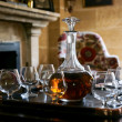 Table served with cognac — Stock Photo #13178179