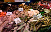 Boqueria fish market in Barcelona, Spain — Stock Photo