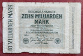 Hyper inflation german marks — Stock Photo
