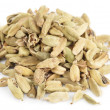Cardamom isolated on white background - Stock Photo