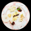 Stock Photo: Cheese plate with fruits and nuts