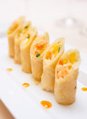Spring rolls on plate — Stock Photo