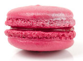 Pink macaron cake on white background — Stock Photo