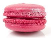 Pink macaron cake on white background — Stock Photo