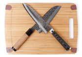 Pair of japanese knives — Stock Photo
