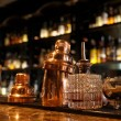 Foto Stock: Bartender tools on bar counter