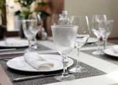 Place setting in an expensive restaurant — Stock Photo
