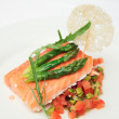 Slow cooked salmon steak — Foto Stock