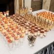 Table with great quantity of desserts — Stock Photo #27164201