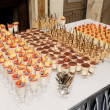 Table with great quantity of desserts — Stock Photo