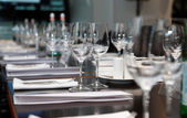 Table set for official dinner — Stock Photo