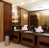Restroom in hotel or restaurant — Stock Photo