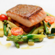 Salmon steak with vegetables — Stock Photo #29066843