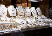 Garnet jewelry shop — Stock Photo