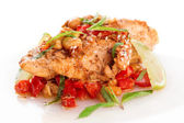 Chicken breast cooked in asian style — Stock Photo