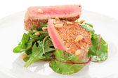 Lightly seared tuna steak — Stock Photo