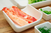 Raw crab legs ready for cooking — Stock Photo