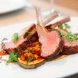 Grilled rack of lamb with vegetables — Stock Photo #36925089