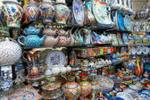 Crockery at an asian market — Stok fotoğraf