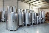 Fermentation stainless steel vats — Stock Photo